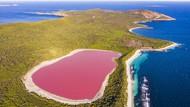 Jangan Lihat Siang-siang, Foto Danau Pink yang Bikin Haus