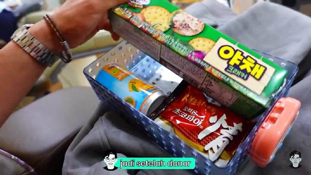 Keren! Usai Donor Darah di Korea Selatan Bisa Dapat Banyak Makanan Enak