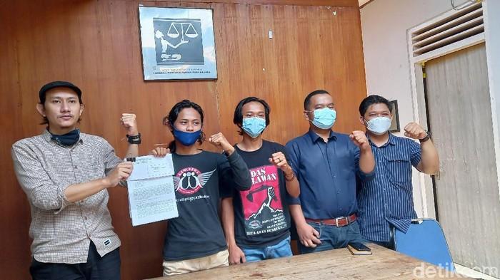 Jumpa pers LBH dan warga Wadas, Purworejo terkait bentrokan dengan polisi, Kamis (29/4/2021).