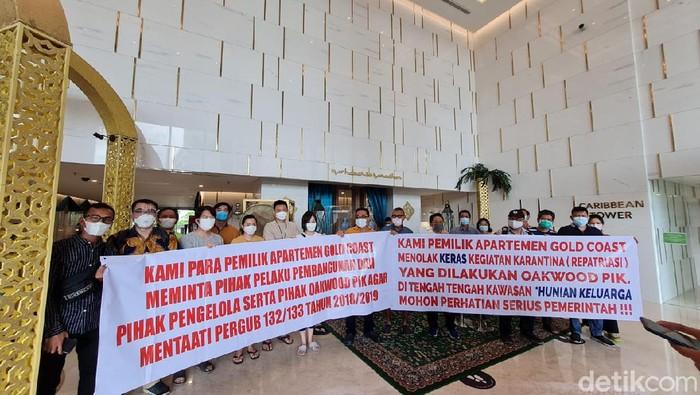 Penghuni apartemen di PIK protes karantina WNA