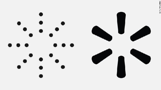 Perbandingan logo Yeezy dan Walmart.