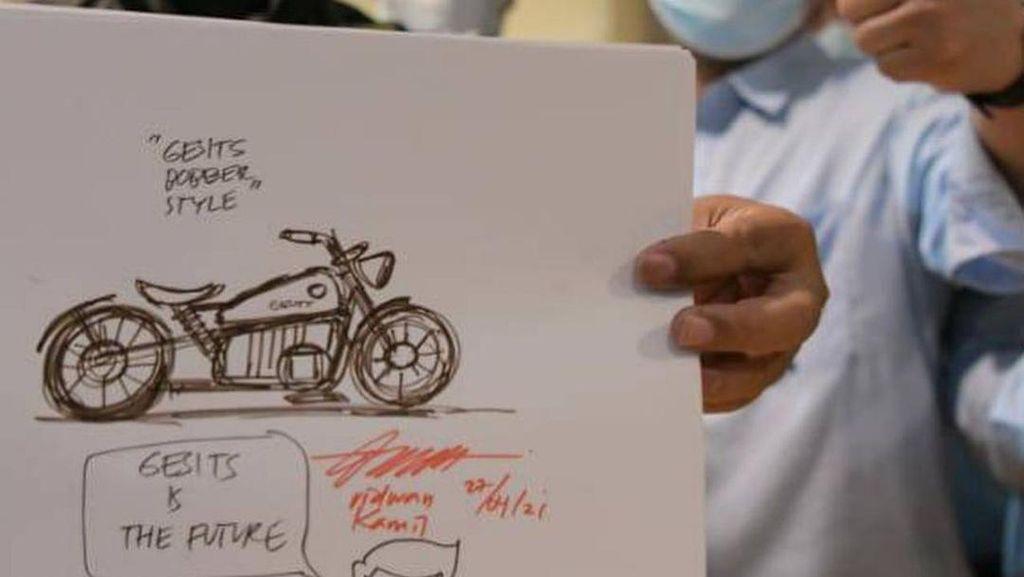Ridwan Kamil Desain Gesits Custom Bobber