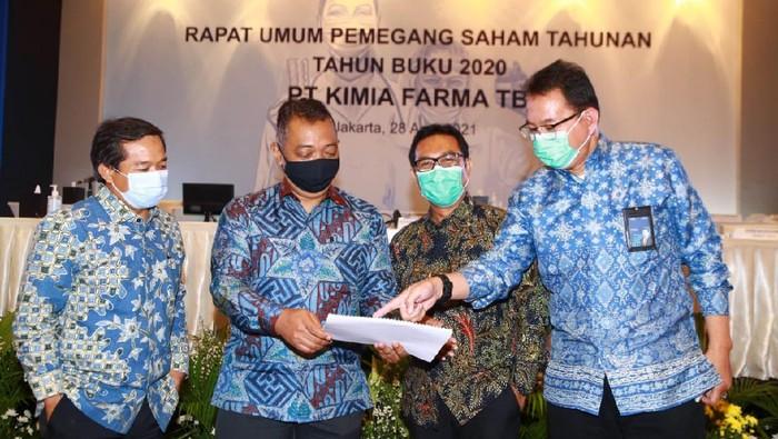 PT Kimia Farma Tbk menyelenggarakan Rapat Umum Pemegang Saham Tahunan (RUPST) Tahun Buku 2019 di tengah kondisi pandemi Covid-19