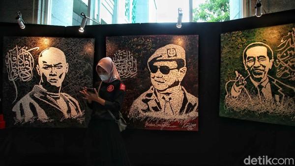aligrafi tersebut dibuat oleh berbagai Seniman di Indonesia