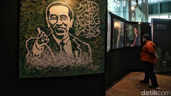 Seni rupa dalam pameran kaligrafi itu dilukis diatas kanvas