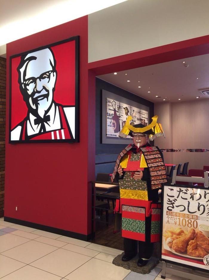 Wow! Tampilan Colonel Sanders Berubah Jadi Samurai karena Alasan Ini