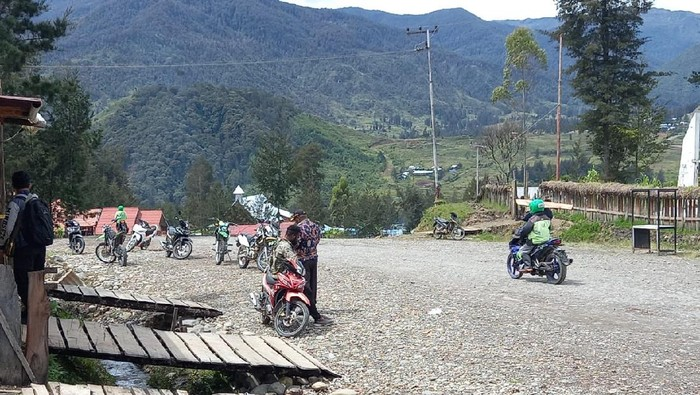 Situasi di Ilaga, Kabupaten Puncak, Papua pada Jumat (30/4/2021)