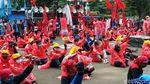 Buruh Bandung Demo Pakai APD