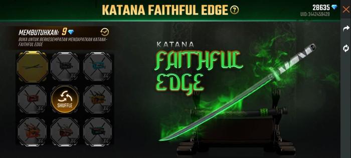 Katana Faithful Edge Free Fire Hadir di Event BullsEye Terbaru!