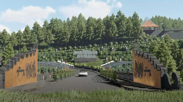 Dalam video masterplan yang diperoleh detikcom, diperlihatkan gambaran dari konsep Borobudur Highland ketika sudah jadi.
