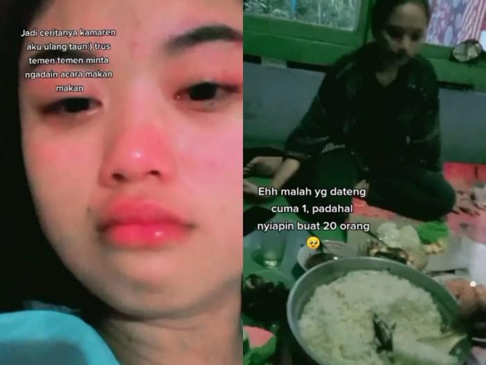 Sedih! Sudah Masak Banyak, Acara Ultah Netizen Ini Cuma Dihadiri Satu Orang