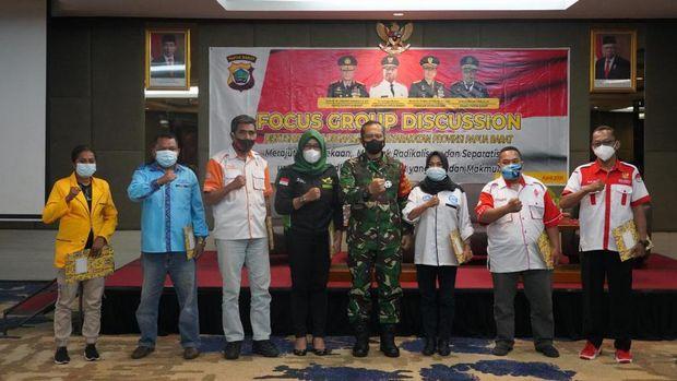 FGD bersama Pangdam XVIII/Kasuari, Mayjen TNI I Nyoman Cantiasa (Dok TNI AD)