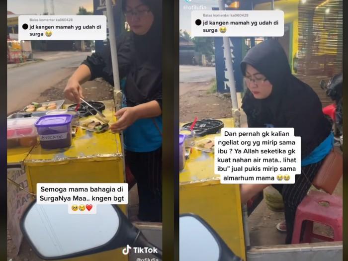 Wanita Ini Beli Pukis Hanya Demi Melihat Penjualnya yang Mirip Almarhumah Ibu