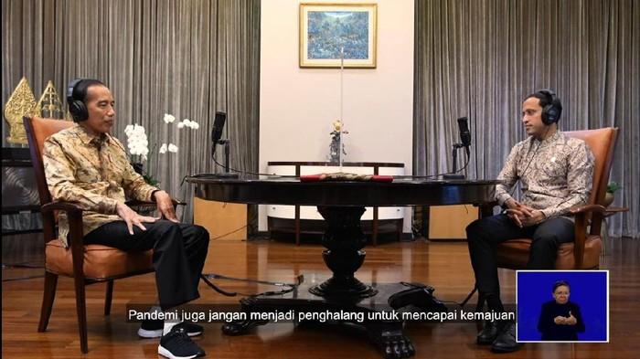 Poadcast Jokowi dan Nadiem tentang Hari Pendidikan Nasional
