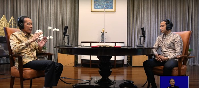 Podcast Presiden Jokowi dan Mendikbud-Ristek Nadiem Makarim