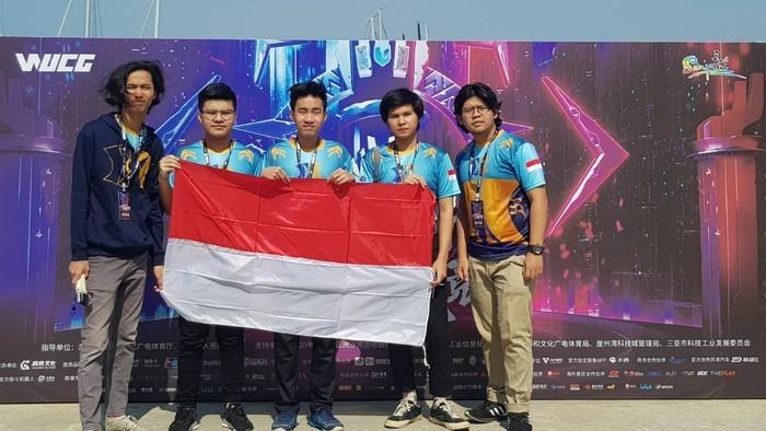 Saat menyabet gelar juara ke-2 di perlombaan Esport, World University Cyber Games (WUCG), di Cina pada 2019.