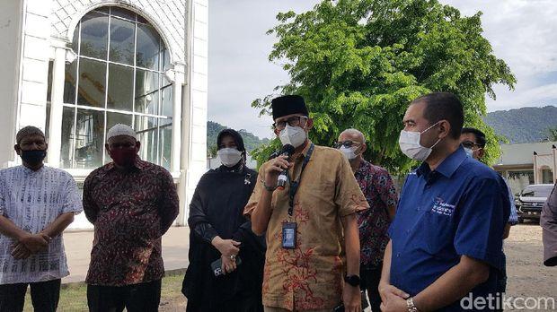 Menparekraf Sandiaga Uno di Banda Aceh.