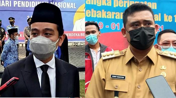 Wali Kota Solo, Gibran Rakabuming Raka dan Wali Kota Medan, Bobby Nasution.