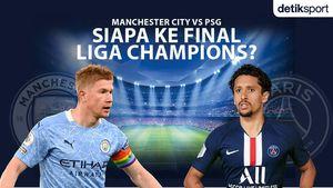 Liga Champions: Man City Vs PSG