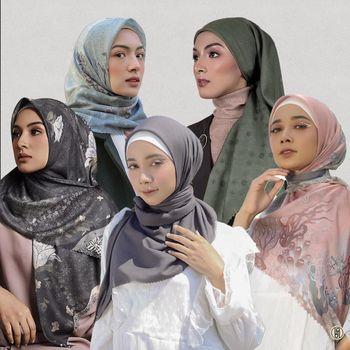 Koleksi hijab Rahina.