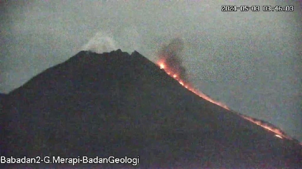 Dalam 6 Jam, Gunung Merapi Keluarkan 3 Kali Awan Panas