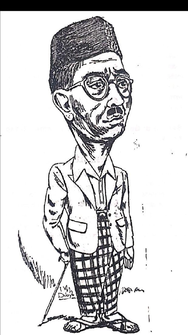 Karikatur Ki Sarmidi Mangunsarkoro dalam buku Apa dan Siapa