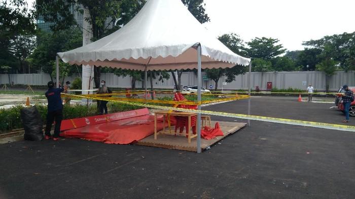 Lokasi Konser Musik di Cibis Park Jaksel Digaris Polisi (Foto: Adhyasta/detikcom)