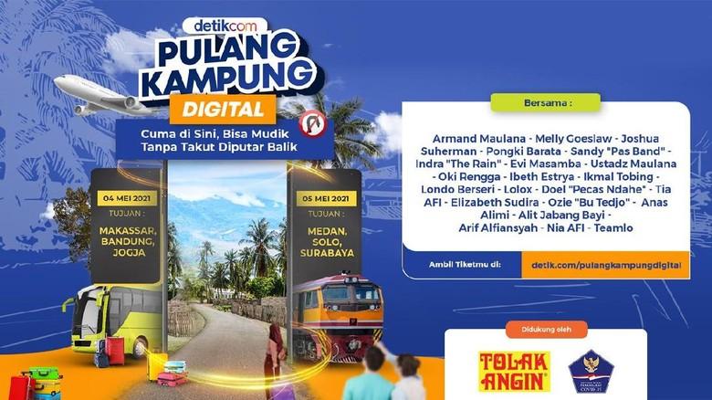 pulang kampung digital Solo, Medan, Surabaya