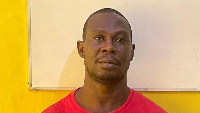 WN Nigeria terpidana mati kasus narkoba, Okonkwo Nonso Kingsley mengendalikan jaringan 1,2 ton sabu dari Timur Tengah. Foto dikirim oleh Satgassus Merah Putih.