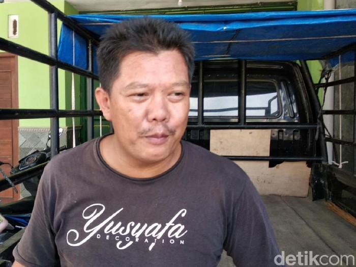 Ketua RT 3 Pedukuhan Cepokojajar, Kalurahan Sitimulyo, Kapanewon Piyungan Agus Riyanto (40) saat bicara soal pelaku takjil sianida, Selasa (4/5/2021).