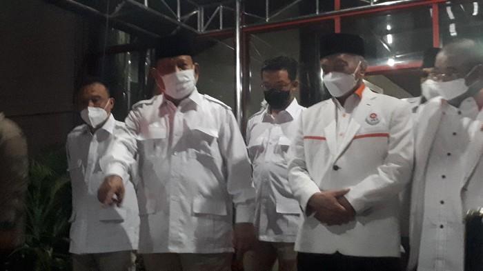 Ketum Partai Gerindra Prabowo Subianto dan Presiden PKS Ahmad Syaikhu bertemu