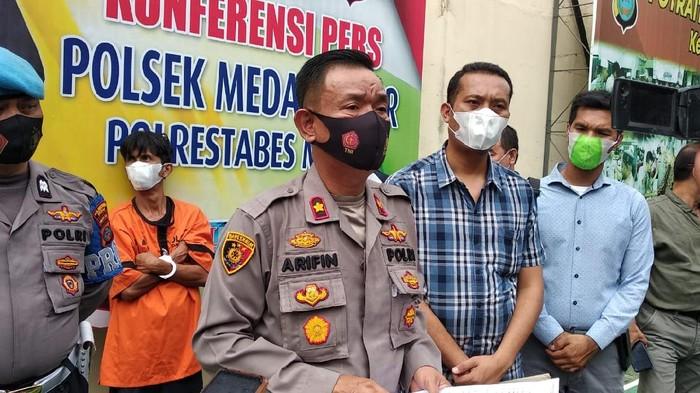 Konferensi pers di Polsek Medan Timur (dok. Istimewa)
