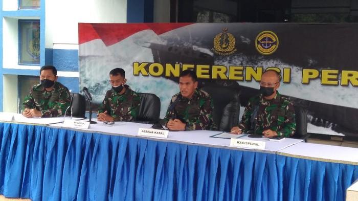 Konferensi pers TNI AL (Adhyasta-detikcom)