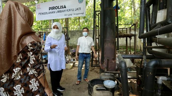 Pasangan Anak Muda Banyuwangi Produksi Pupuk Organik dari Limbah Kayu Jati