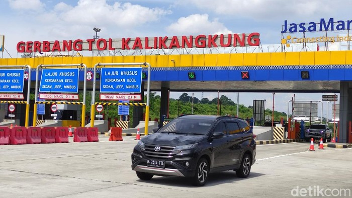 Pintu Tol Kalikangkung, Semarang, Selasa (4/5/2021).