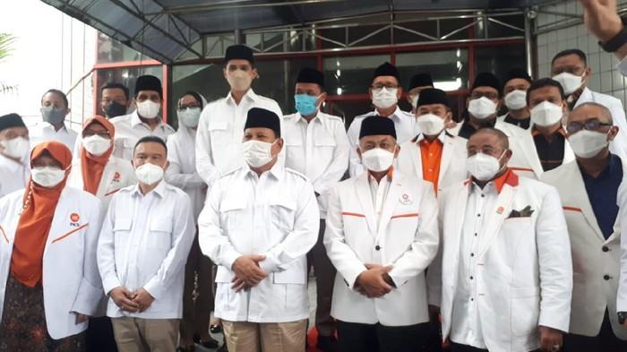 Silaturahmi kebangsaan PKS ke DPP Gerindra, Ragunan, Jakarta Selatan, Selasa (4/5/2021).