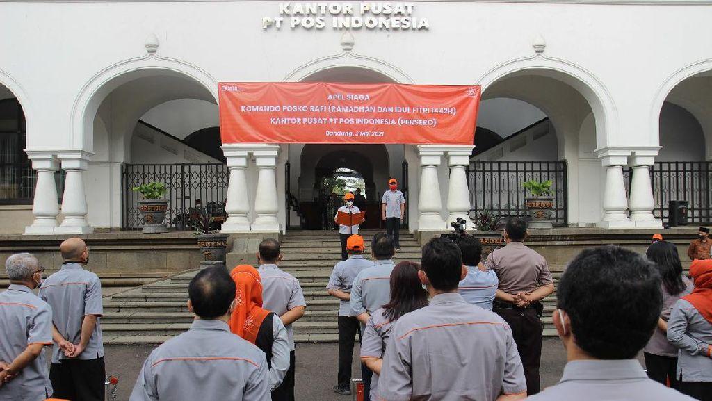 Persiapan Lebaran, Pos Indonesia Lakukan Apel Siaga Nasional