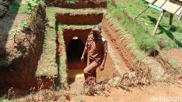 Rumah di bawah tanah berbentuk bungker yang dibangun kakek di Bone Sulsel (dok. Istimewa).