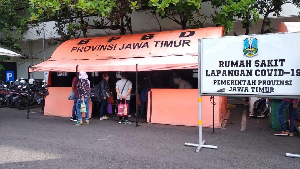 Kasus COVID-19 Terus Melonjak, 410 Bed RS Lapangan Indrapura Surabaya Full