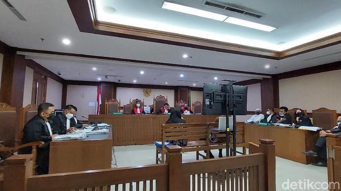 Suasana sidang kasus suap Mark Sungkar di Pengadilan Tipikor Jakarta, Selasa (4/5/2021) (Zunita Amalia/detikcom)