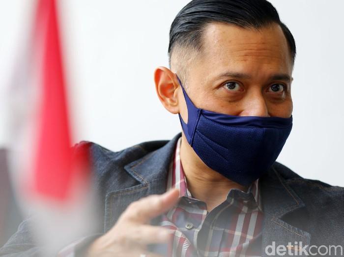 AHY saat menyambangi kantor detikcom, Rabu (5/5) di Jakarta.