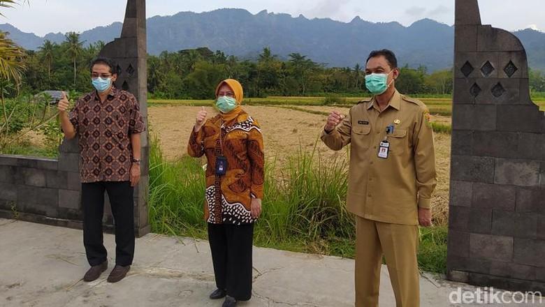 Suasana sosialisasi masterplan Borobudur Highland di Balkondes Karangrejo, Borobudur, Kabupaten Magelang. (foto: Eko Susanto/detikTravel)