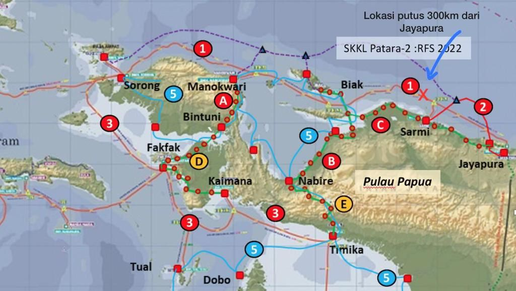 Perbaikan Kabel Laut yang Putus di Jayapura Rampung Kapan?