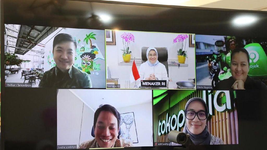 Perluas Peluang Kerja, Kemnaker Jalin Kerja Sama dengan Gojek