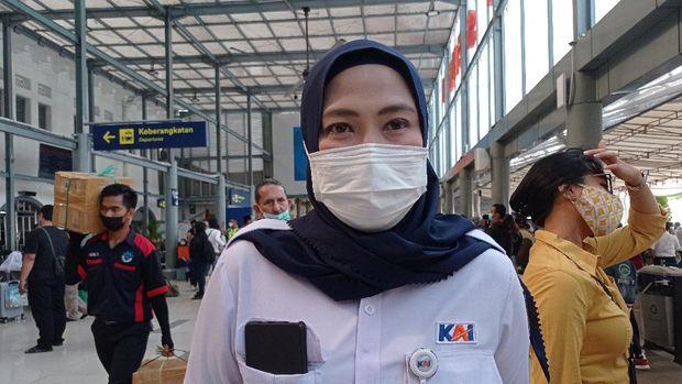 Kepala Humas PT KAI Daop 1 Jakarta Eva Chairunisa (Wilda-detikcom)