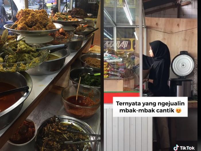 Ini Amelia Wanita Cantik Pelayan Warung Makan Padang Murah Meriah