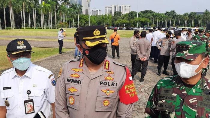 Polres Jakpus gelar apel pasukan pengamanan Operasi Ketupat Jaya 2021, Rabu (5/5/2021)