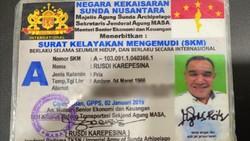 Lihat dari Dekat SIM Kekaisaran Sunda Nusantara, Beda Banget dengan Smart SIM Polri