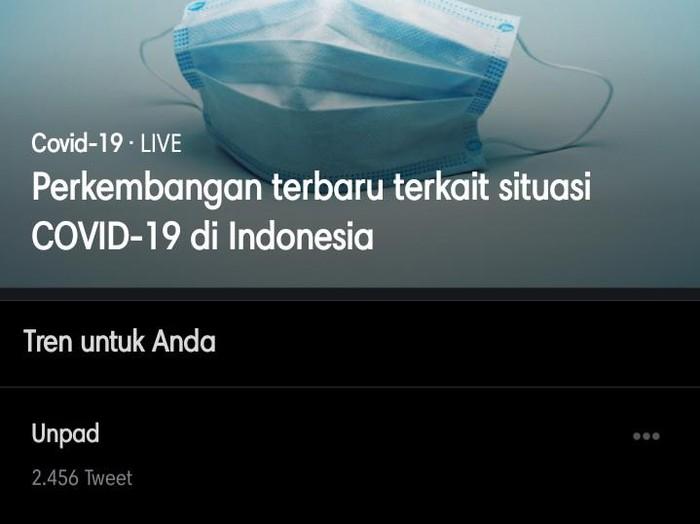 Unpad sempat trending di twitter