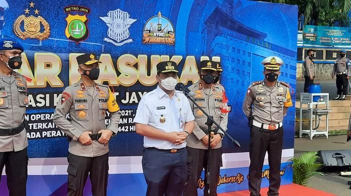 Wagub DKI jkaarta Ahmad Riza Patria menyebutkan Kepgub SIKM telah diterbitkan, Rabu (5/5/2021)